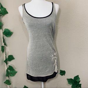 Curio Knit Classic Casual Gray Black Dress New